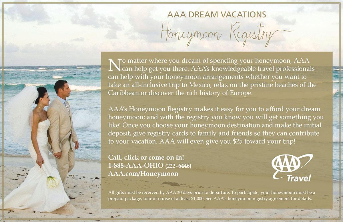 Aaa Honeymoon Registry Mailers 2015 On Behance