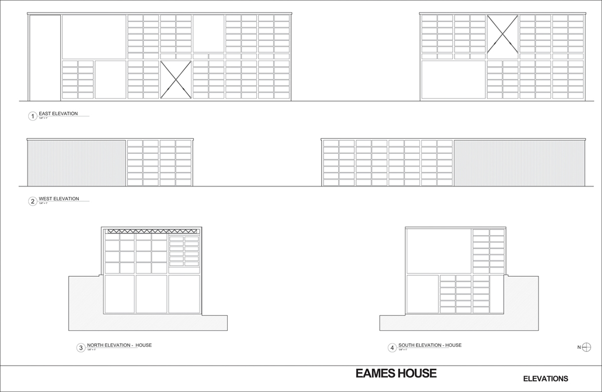 Eames House - Case Study on Behance  Eames House - C...