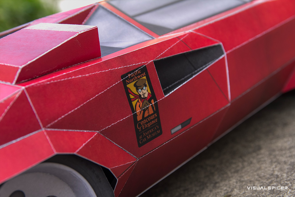 printach papercraft sports car tribute on behance