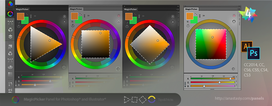 Tips Tricks 4 For Magicpicker Color Wheel Other Panels On Behance