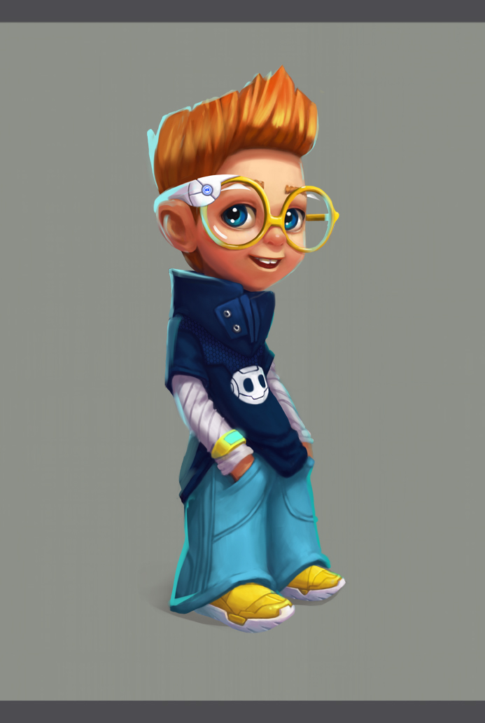3d Character Design Behance : Four eyed character design on behance