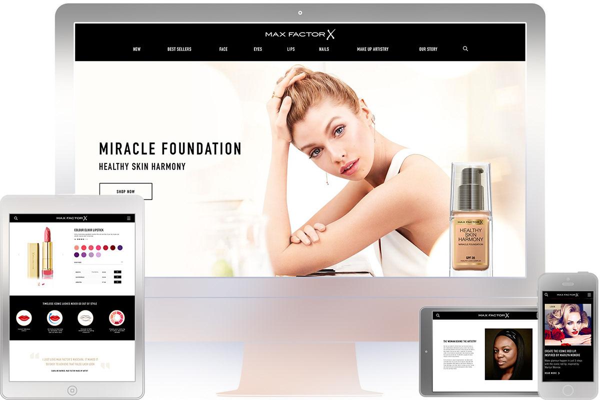 Max Factor beauty cosmetics redesign Web Design  Responsive UI ux