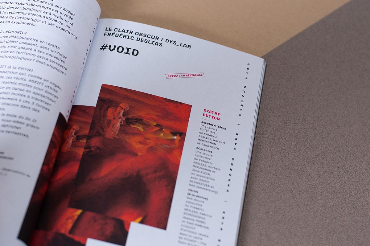 art brochure season programming  code typography   Layout book leaflet Cinema