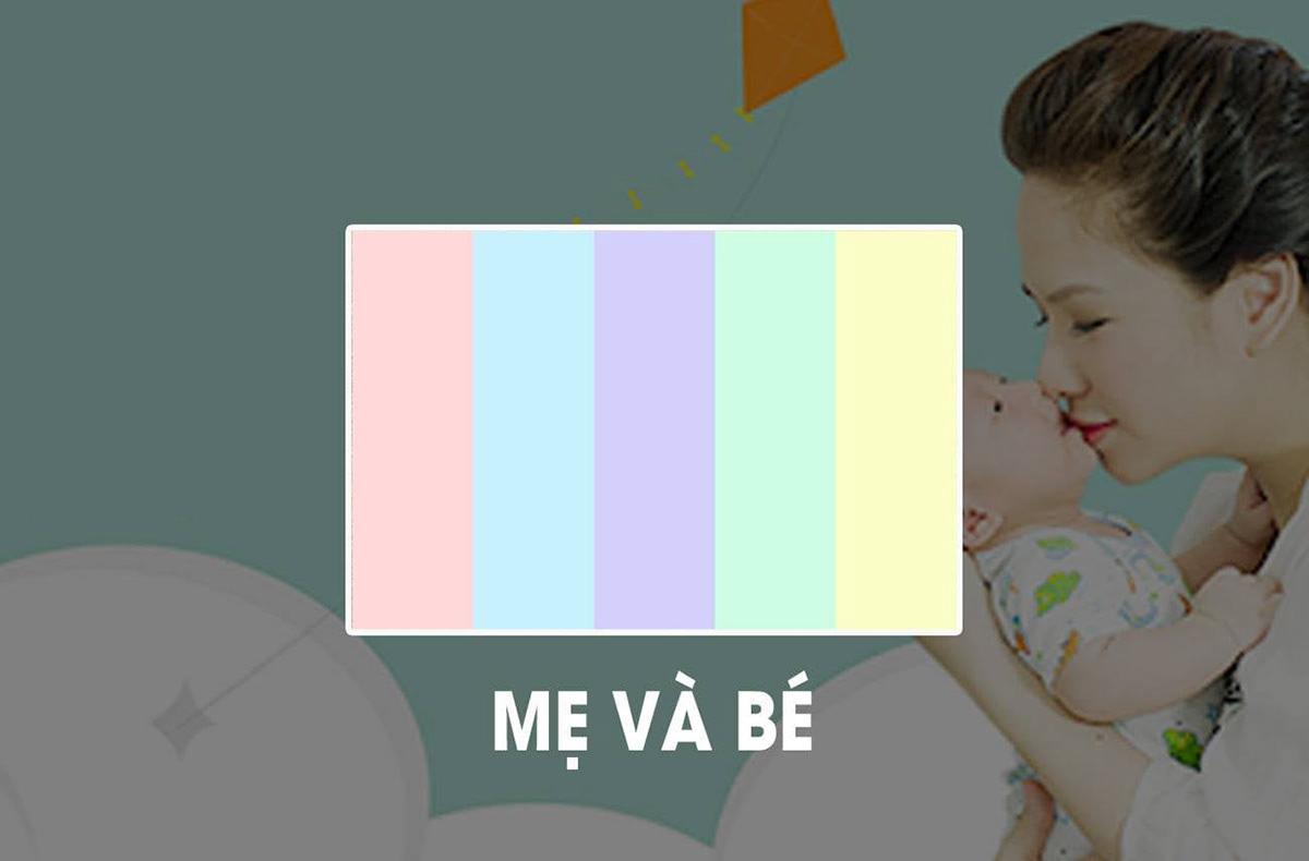 Cách tạo màu sắc tác động đến cảm xúc mua hàng mẹ và bé