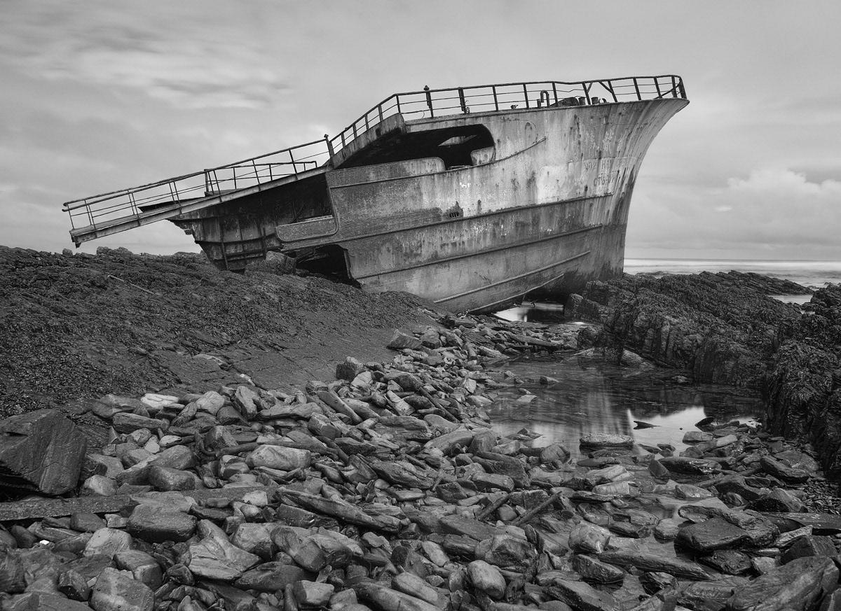 Shipwrecks Coast sea Ocean long exposure