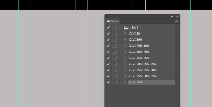 Free Photoshop action - Web design grid on Behance