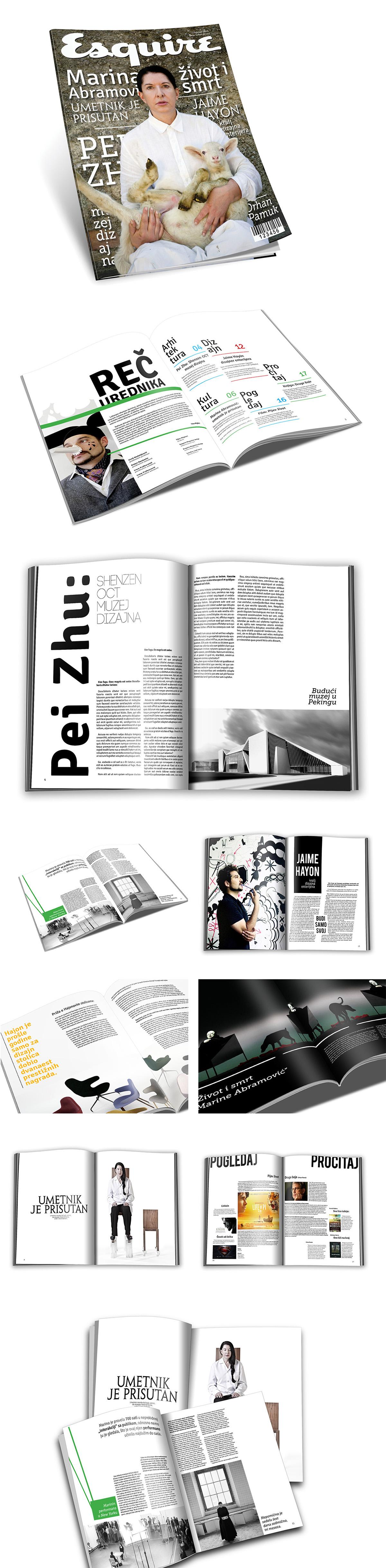Esquire magazine marina abramovic pei zhu  Jaime Hayon design