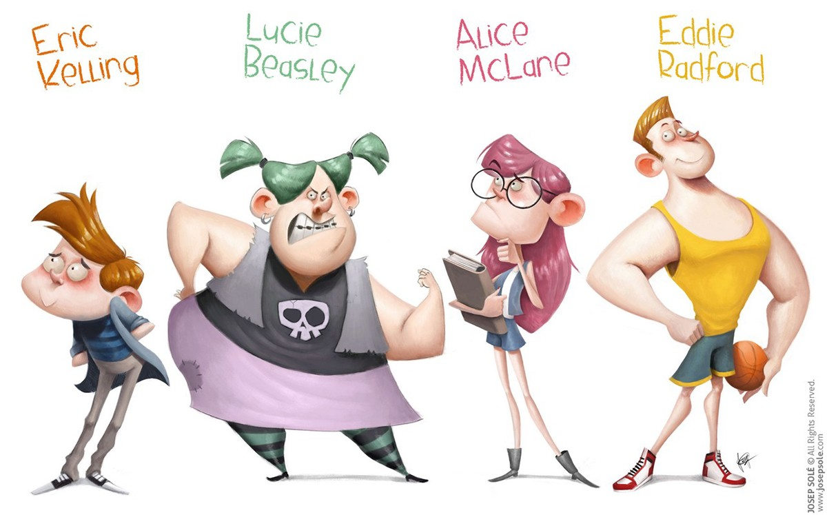 College For Character Design : High school character design on behance