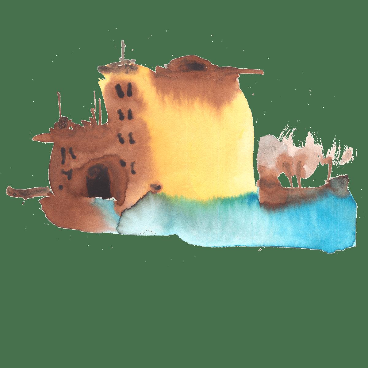 architacture graphic houses watercolor акварель архитектура графика питер