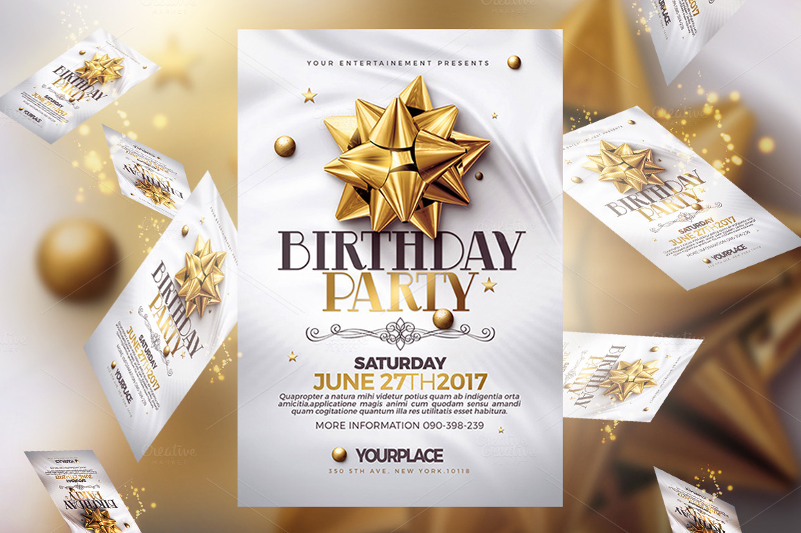 Birthday Invitation | Psd Cards Templates on Behance