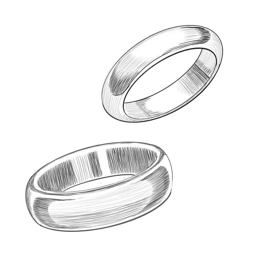 Обручальные кольца рисунок карандашом