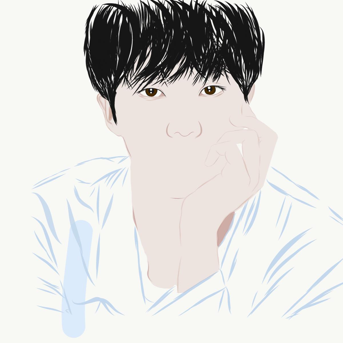 adobe draw,artworks,bts,btsfanart,Digital Art ,Digital Drawing,drawings,fanart,happy birthday jin,ILLUSTRATION ,Jin,kpop,seokjin