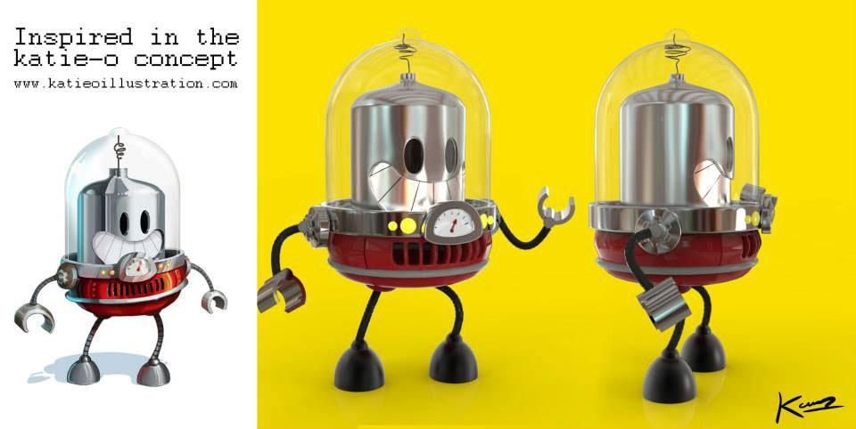 little robot 3D Character 3d modeling
