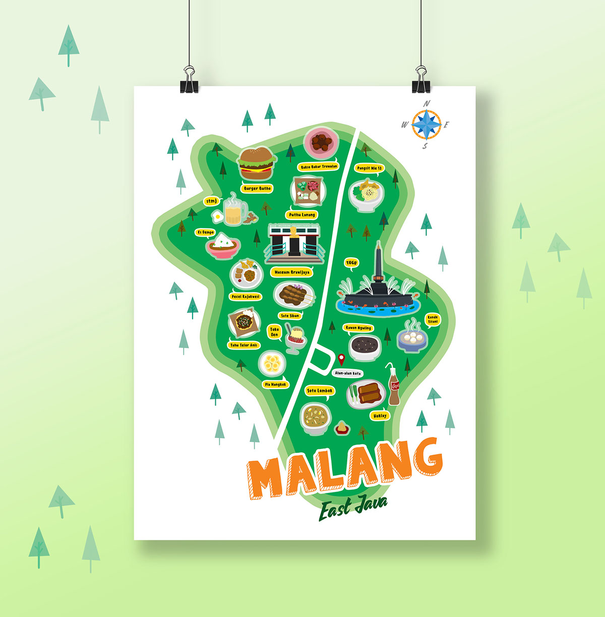 Map Of Malang City On Behance