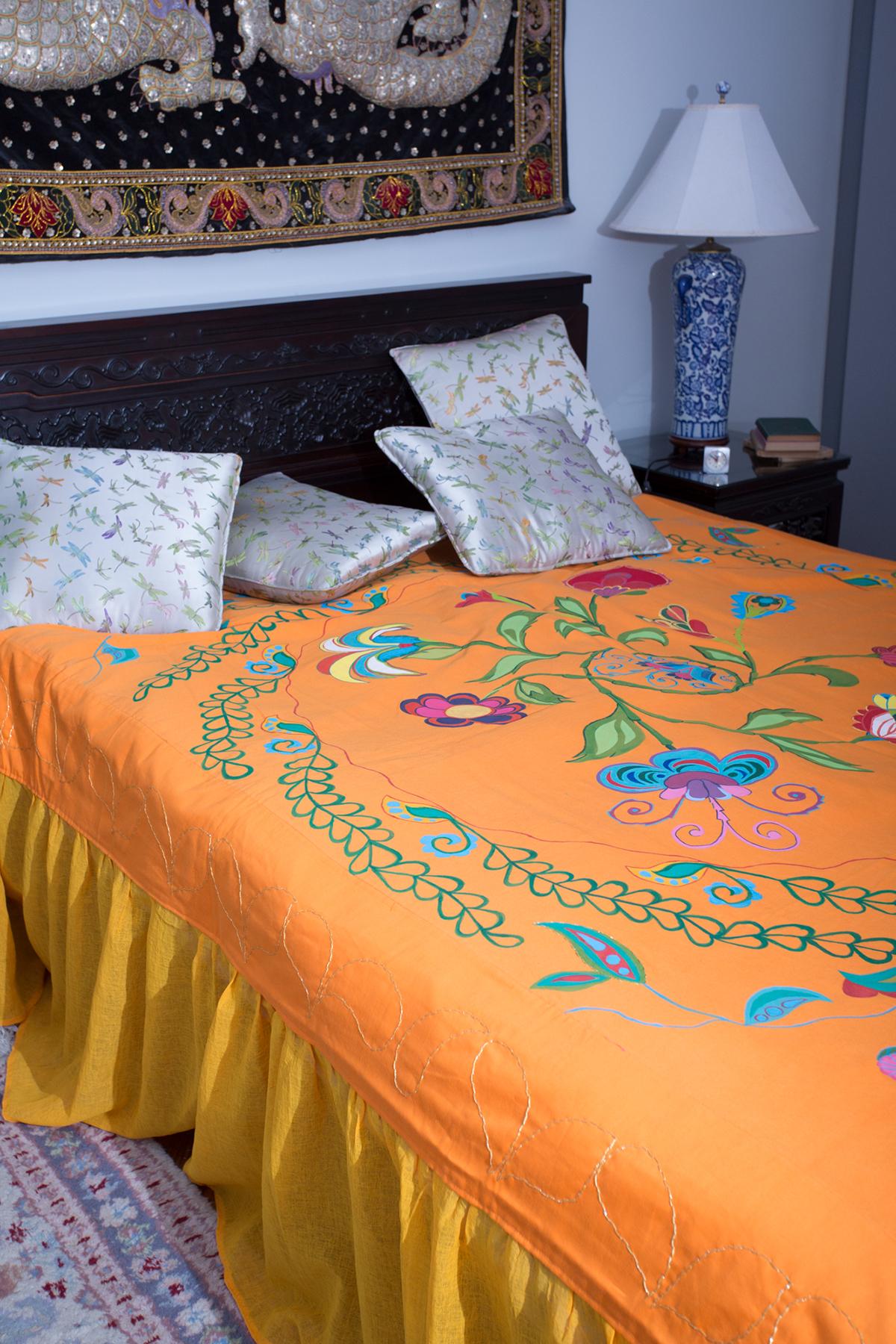 bed cover decorative textile home decor textile Unique Bed Decoration