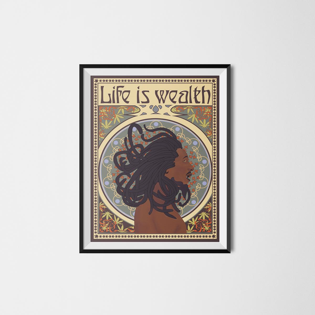 graphisme Infographie culture graphique heaj esiaj Bob Marley art deco art nouveau objectivité informative dadaïsme bauhaus psychédélisme Typo objective Futurisme weed