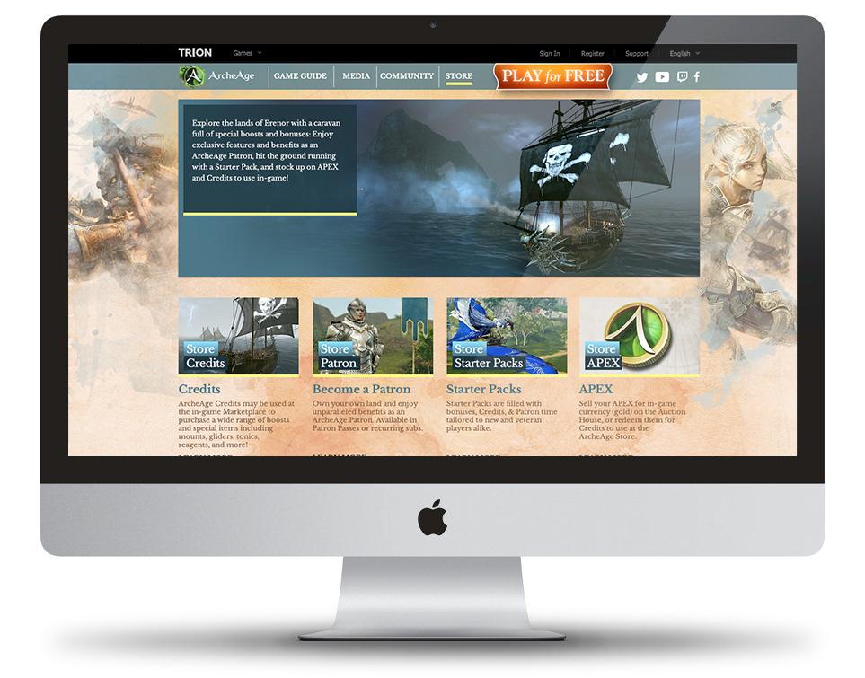 ArcheAge re-design template site on Behance