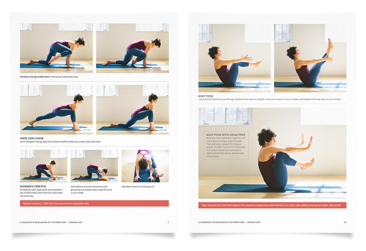 Adobe Portfolio pdf printable Yoga fitness how-to download