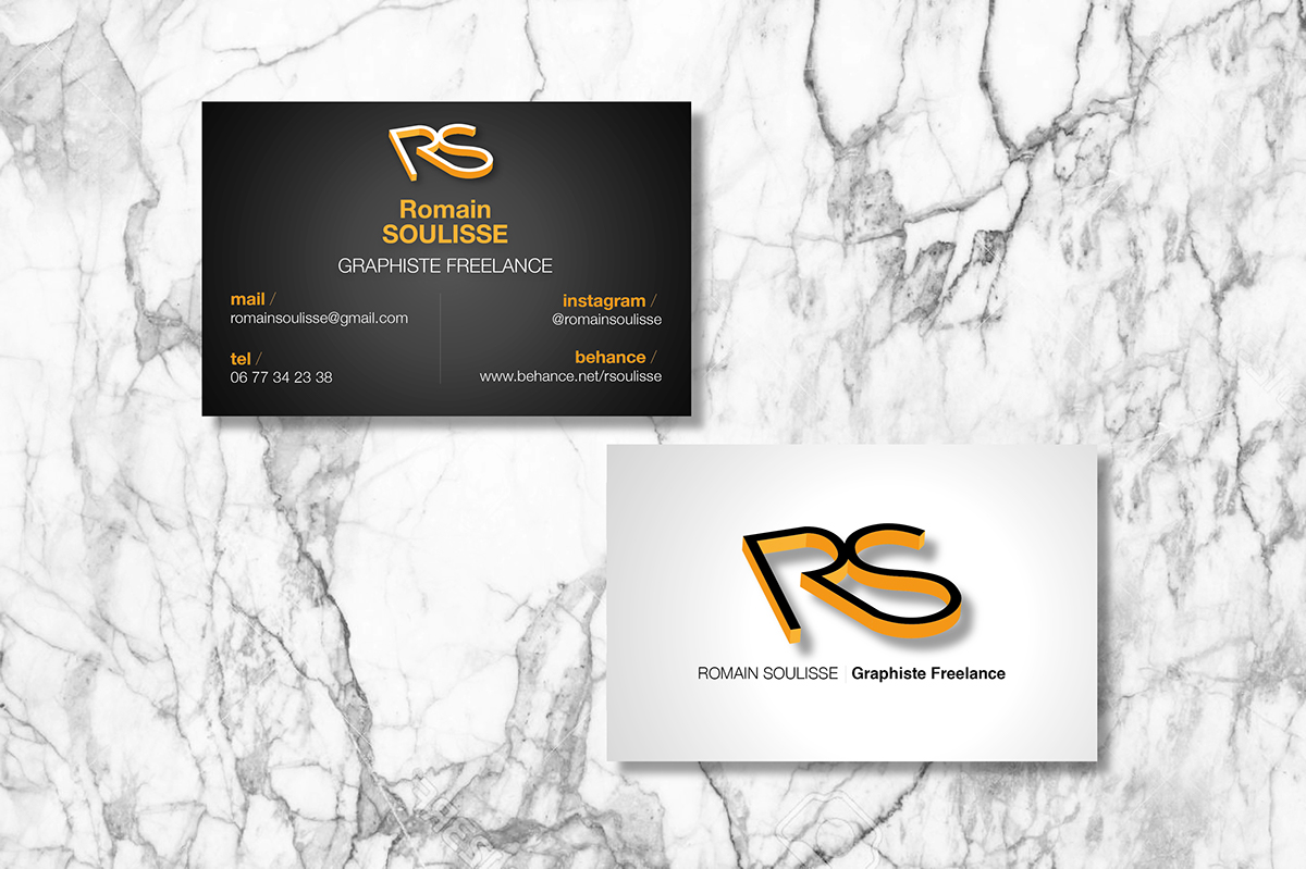 Carte De Visite RSgraphiste On Behance