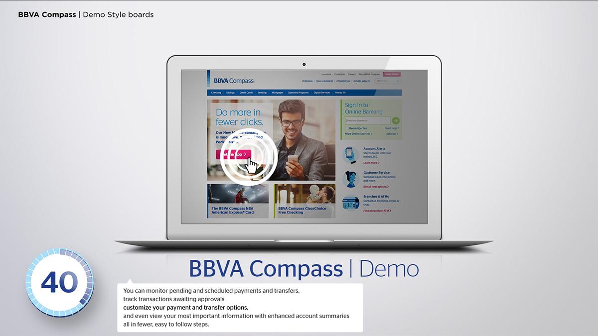 BBVA Compass Website demos