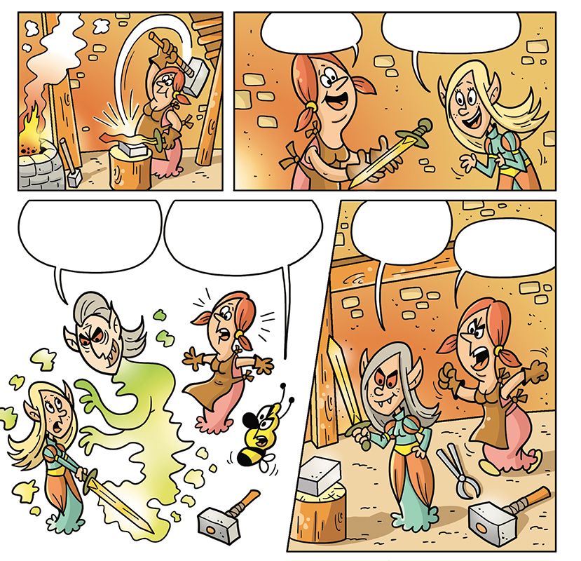 comics komiks daizyvale sedmikraskov časopis children kid DETI ILLUSTRATION  elf