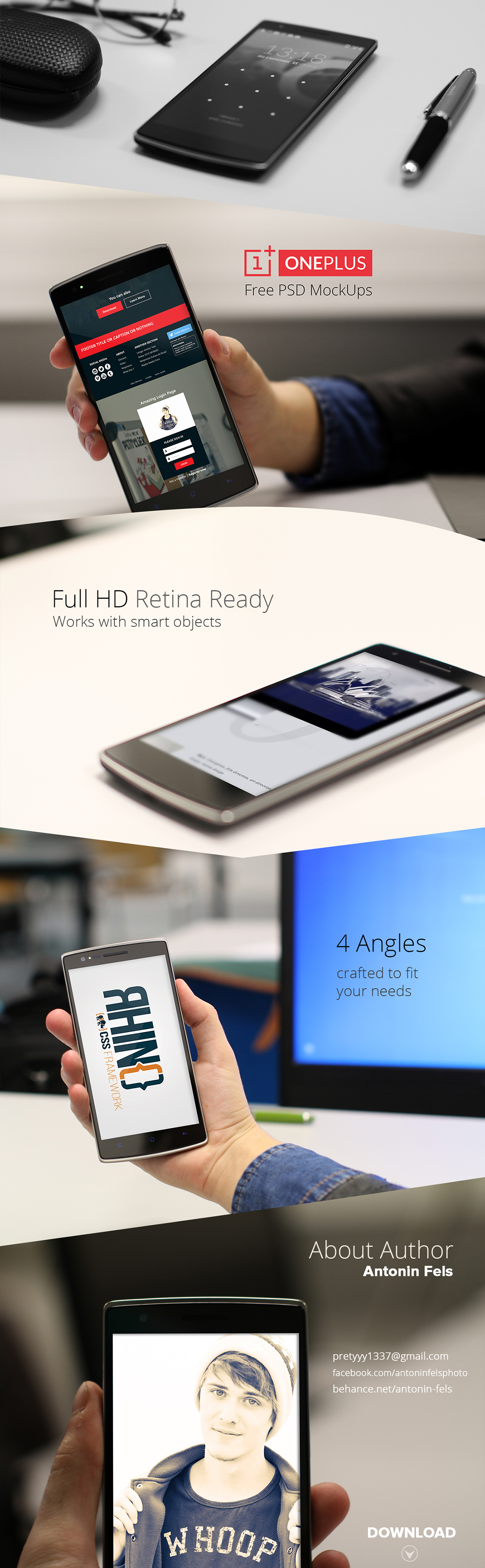 Mockup,free,psd,template,OnePlus One,One+