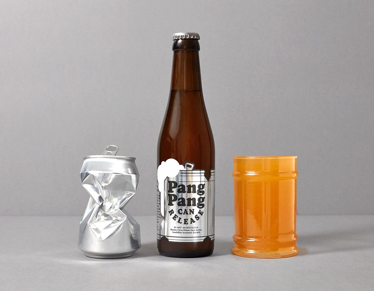 beer die-cut can beer bootle cooper black brewery craft beer can caps silver foil