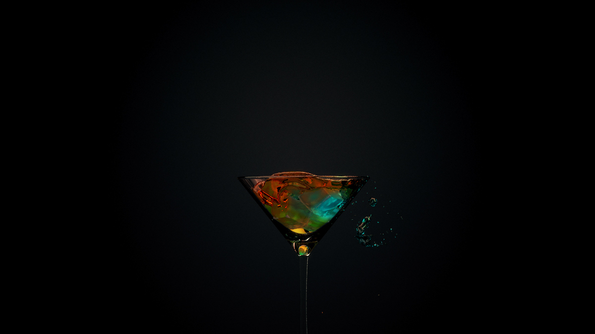 cocktail realflow cinema 4d physical render After effect