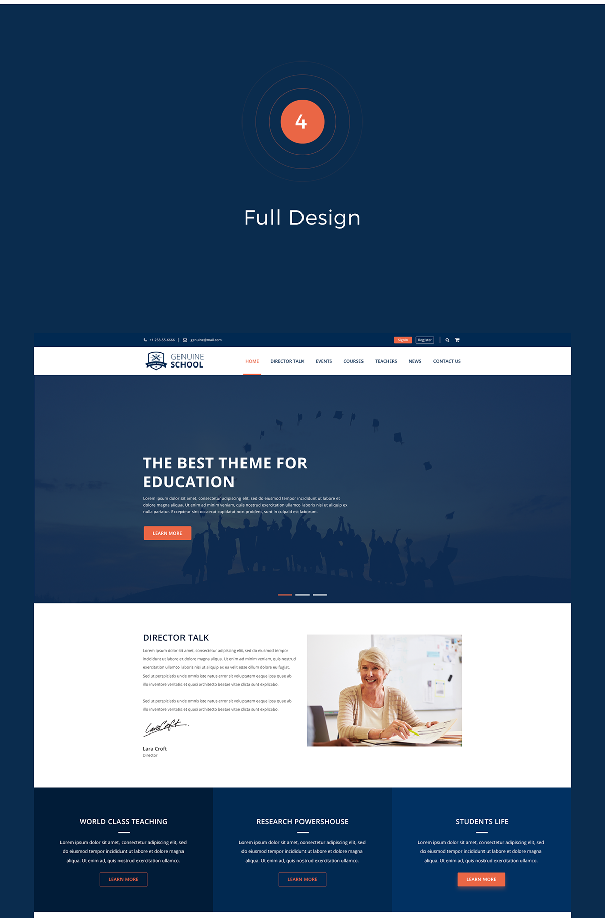 Genuine School Web Template Free Psd Download On Student Show