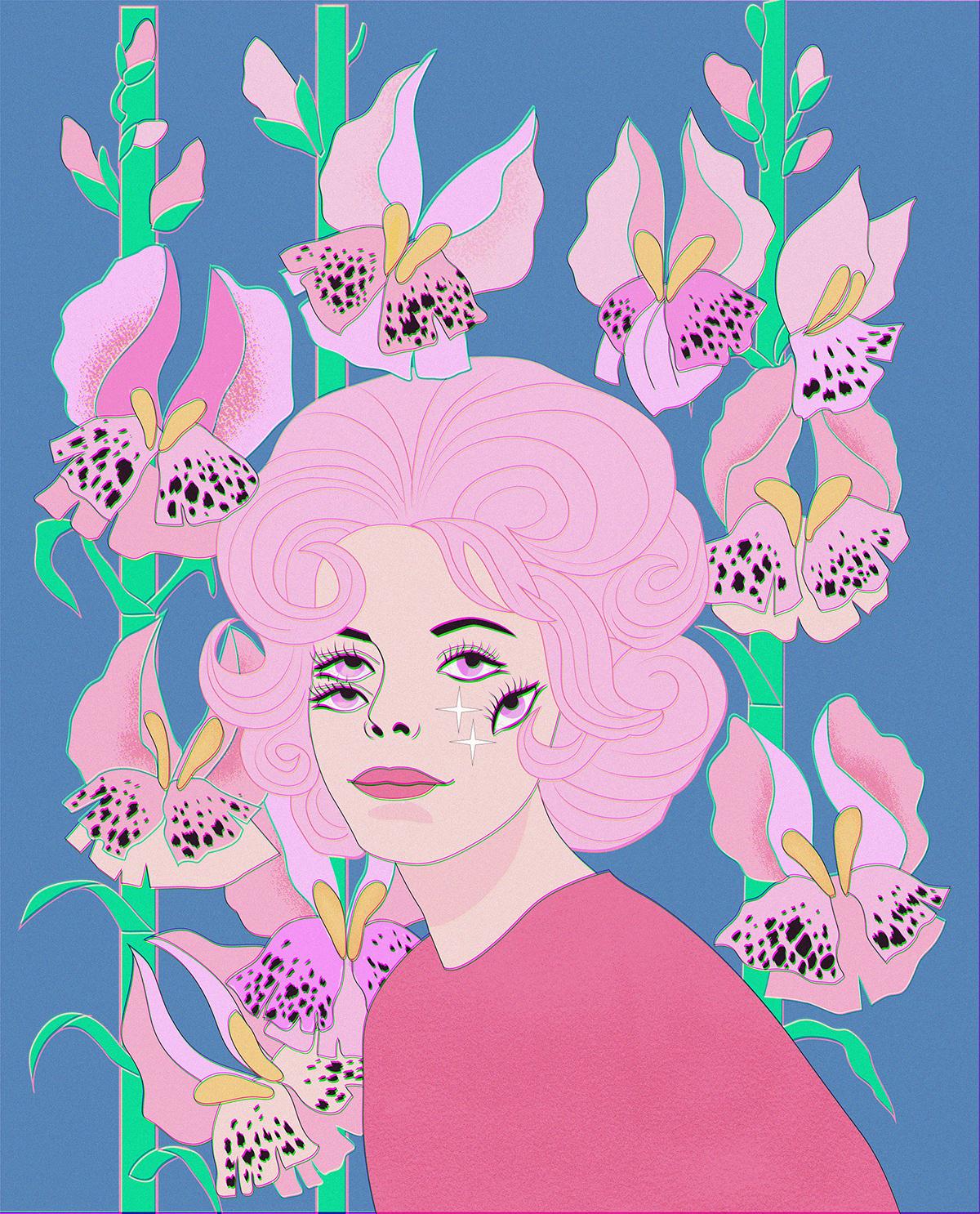 Illustrator japanese octopus portrait srrealism Vector Illustration