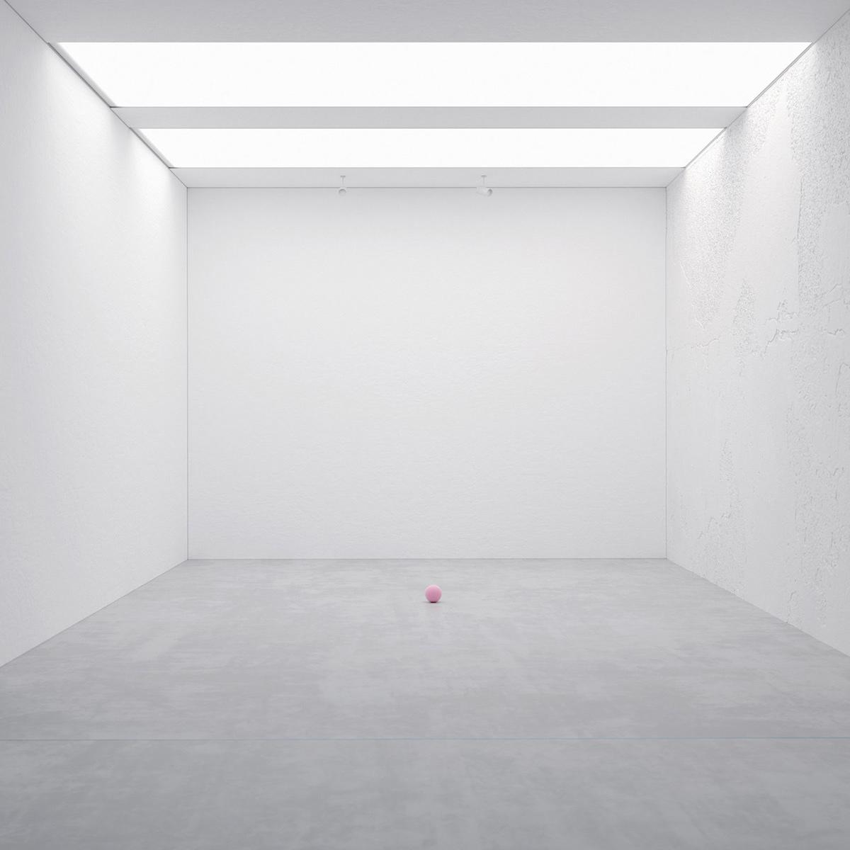 art Exhibition  reisinger DesignArt sphere pink Interior installation