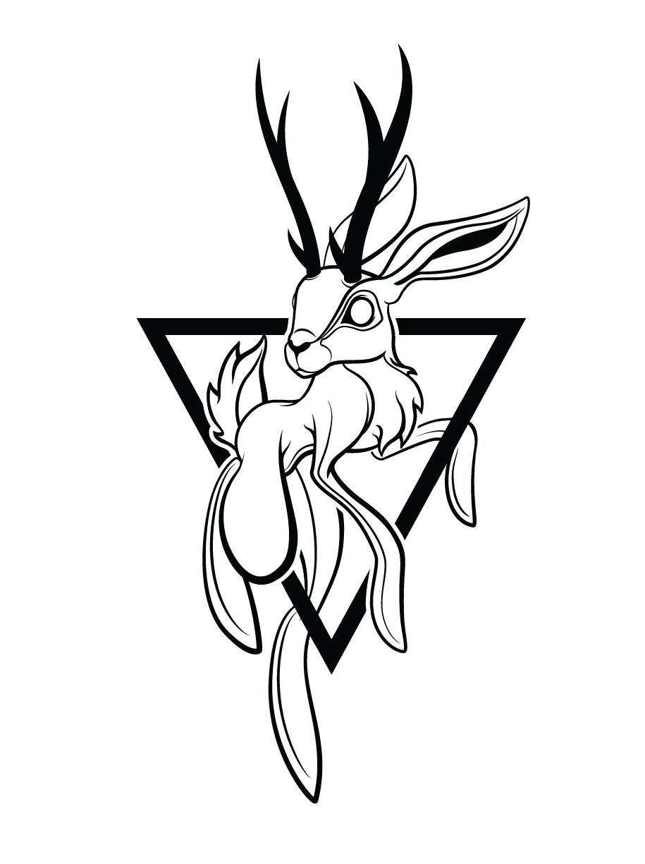 jackalope tattoo design on behance