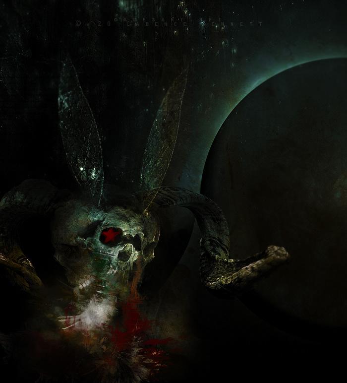 photomanipulation dark art dark dark surrealism surreal skull texture tempest paint