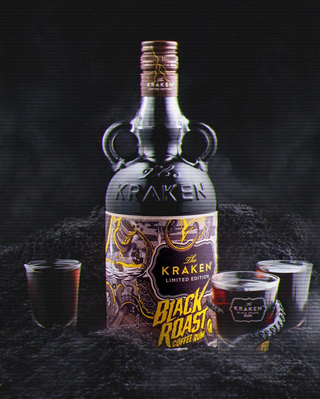 kraken release the kraken Rum Coffee coffee rum Label Packaging