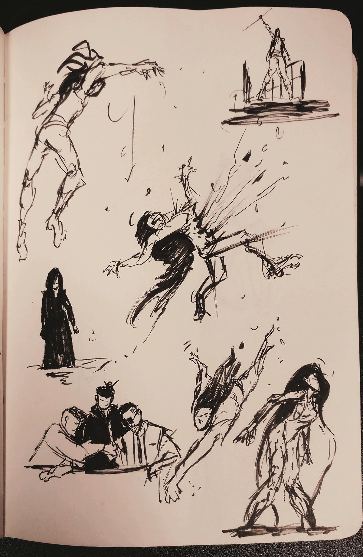 fast drawings  tumbnails