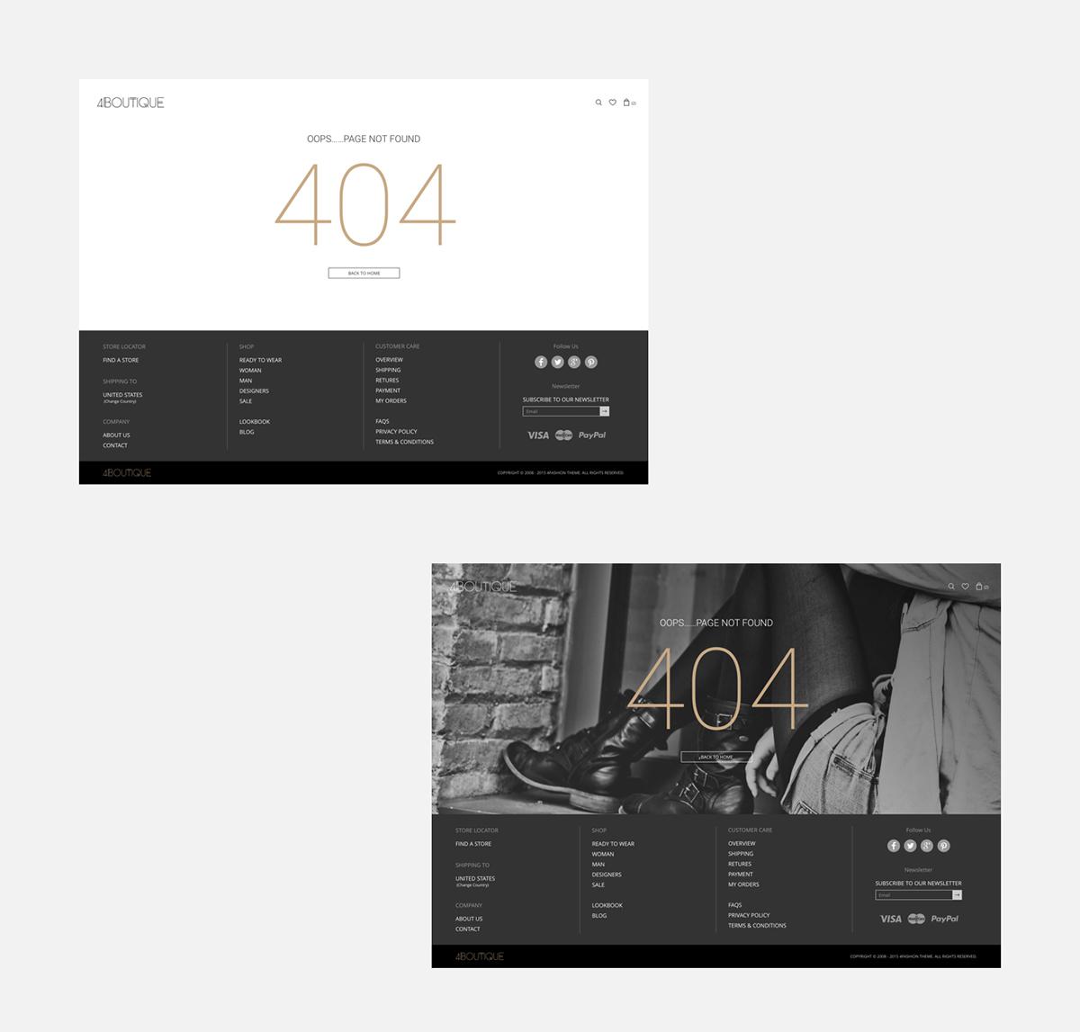 UI ux Ecommerce shop Responsive Website clean elegant sketch photoshop Interface Web mobile tablet interaction