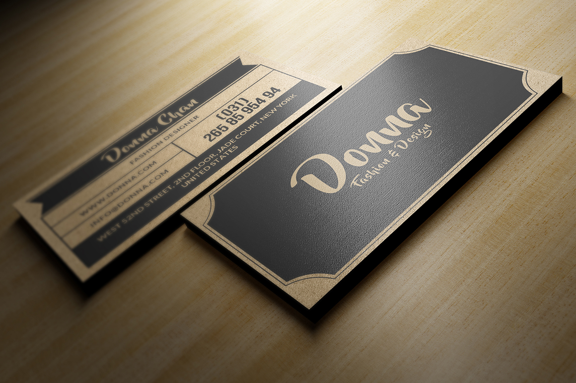 craft paper business card on behance