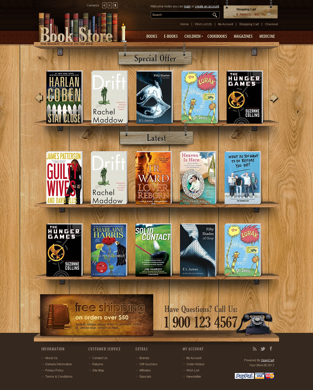 Book Store Opencart Theme On Behance