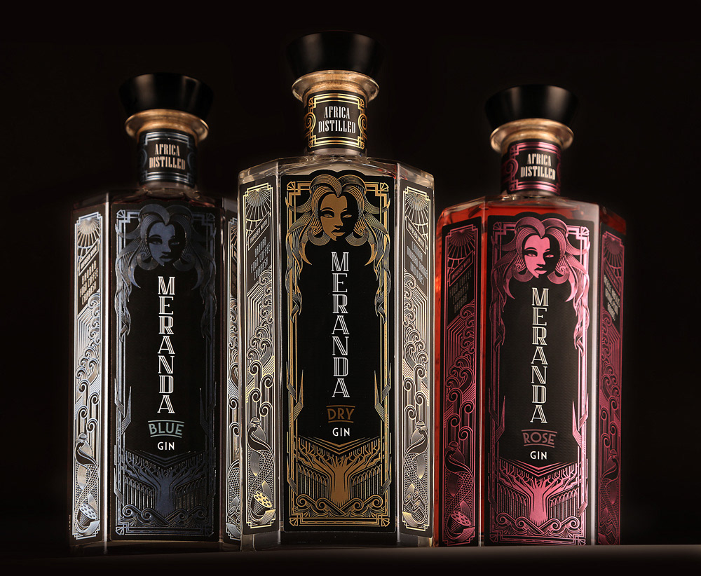 packaging design Gin Packaging gin graphic design  ILLUSTRATION  art deco South Africa Design