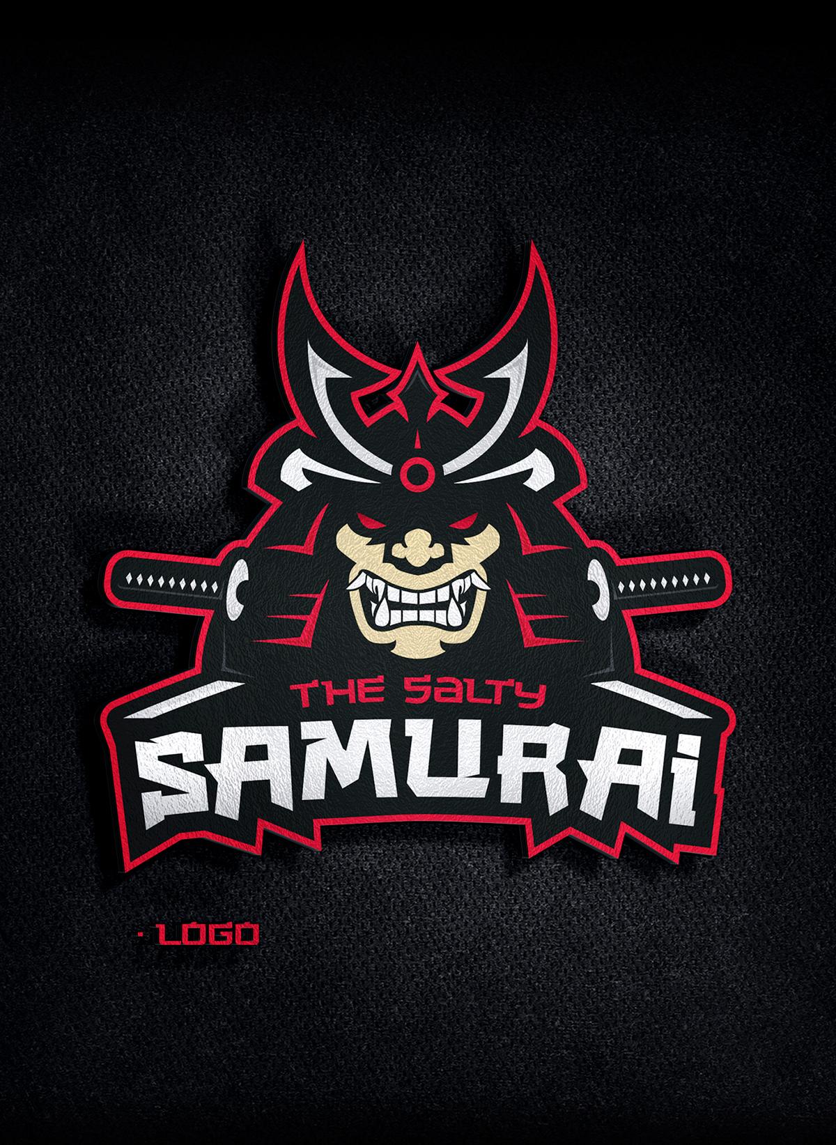 The Salty Samurai Logo On Pantone Canvas Gallery