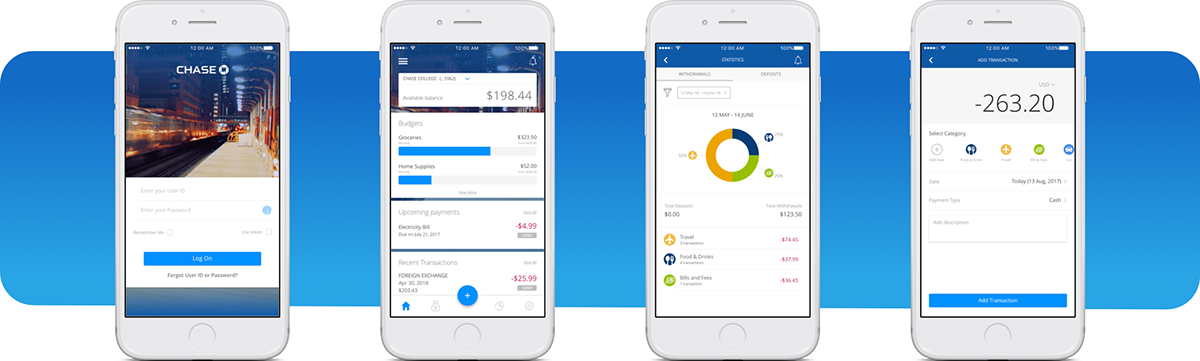 Chase Bank Financial Management iOS App | UI/UX Design on Behance
