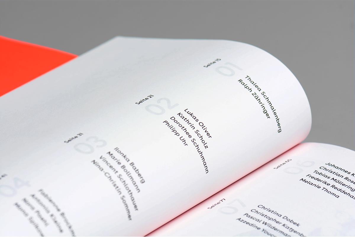 Exhibition  catalog neon White communicationdesign