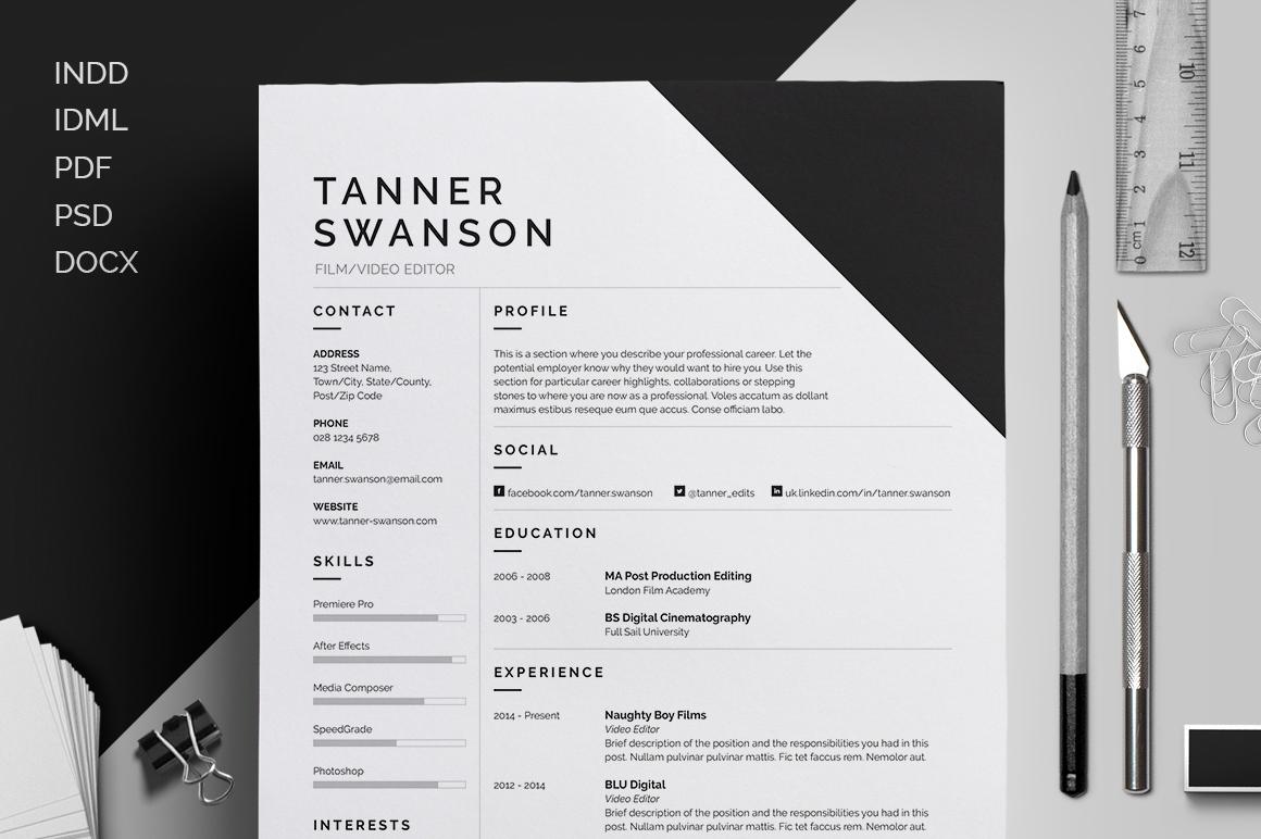 Resume/CV - \'Tanner\' on Behance