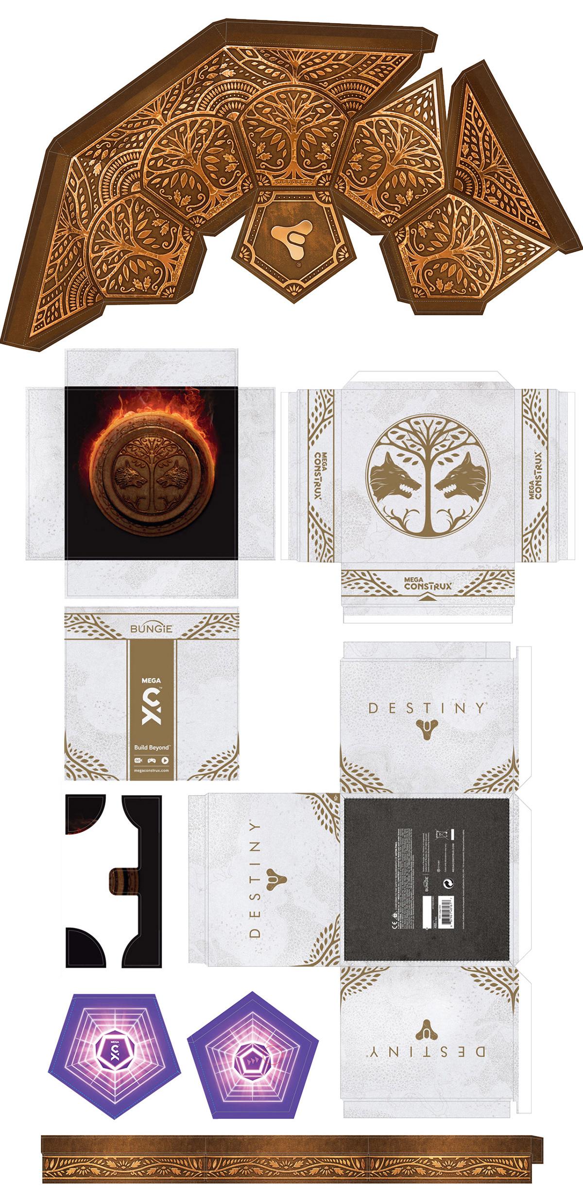 Bungie destiny exclusive graphic design  mattel Mega Bloks Packaging SDCC