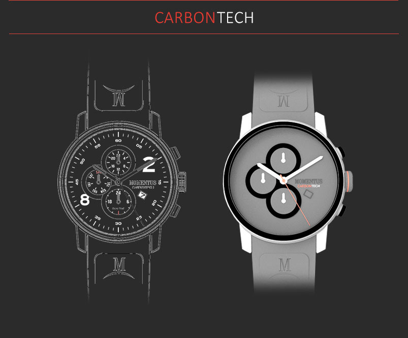 carbon Momentus Watches Chronograph limited edition mens watches autodesk 3D
