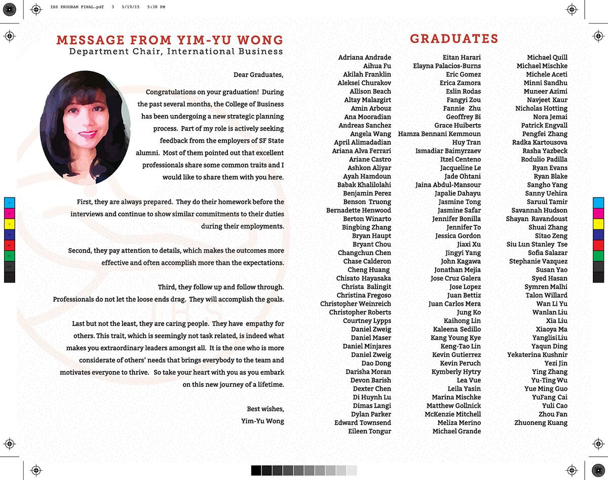 Event  Program program design booklet design promotional material international business graduation business Ceremonial