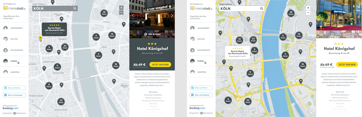 UI ux Website Interface redesign Booking service