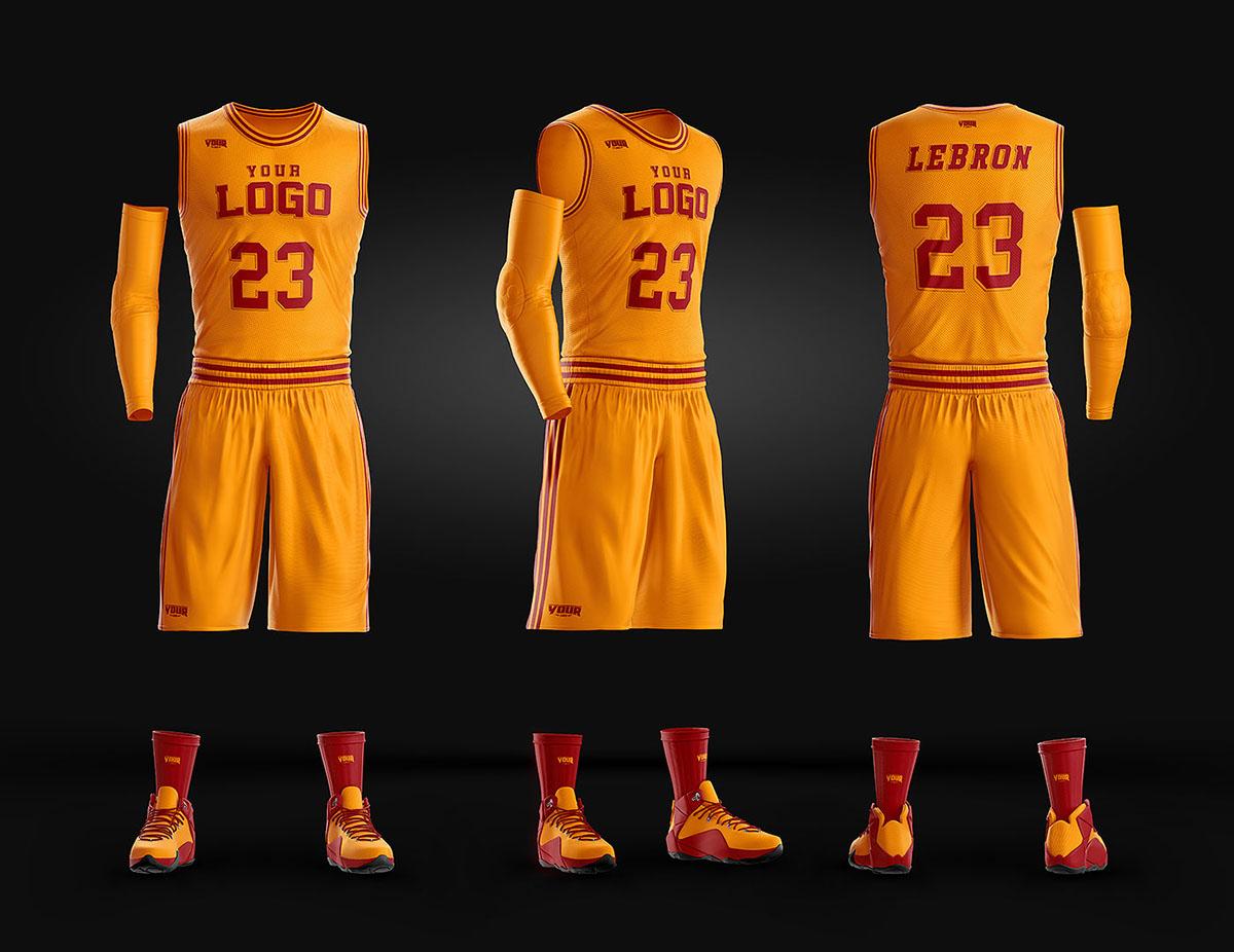 bde1d83b1775a5 Basketball Uniform Jersey PSD template on Wacom Gallery