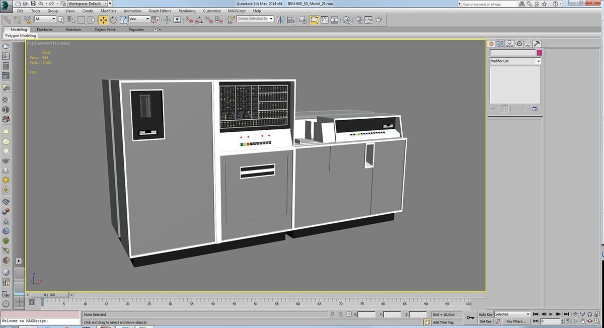 IBM calculator 3d design vr Unity 3d