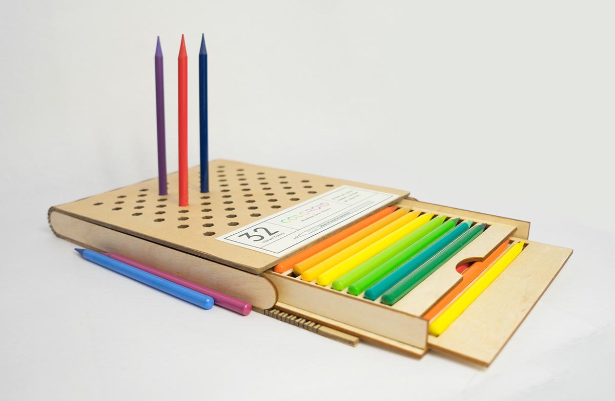 Decorate Pencil Case Coloroid Woodless Color Pencil Case On Behance
